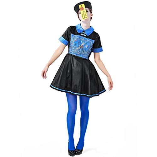 Unbekannt Halloween-Zombie-Kleid, Geist-Partei-Partei-Kostüm Der Erwachsenen Frau Chinesisches Traditionelles Zombie-Elternteil-Kind-Kleid - Traditionelle Chinesische Frau Kostüm