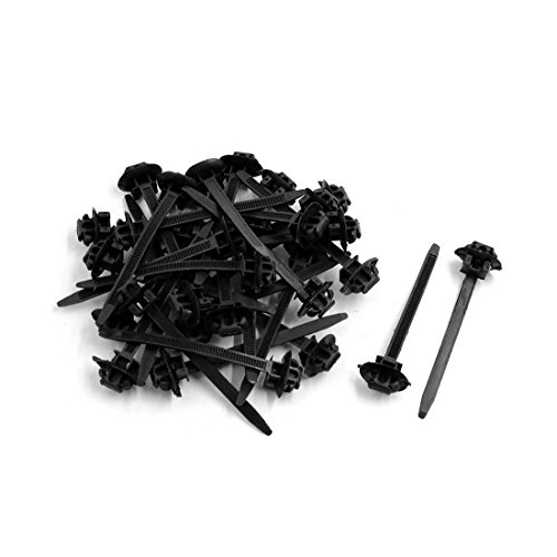 sourcing map 30Pcs Attaches câble nylon Zip Fixer emballage sang Plastique noir 70mmx5mm