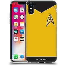 Ufficiale Star Trek Comando Uniformi E Stemmi TOS Cover Morbida In Gel Per Apple iPhone X