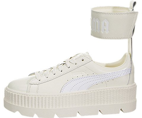 Puma Women's Fenty X Ankle Strap Sneaker Vanilla Ice/White Ankle-High Leather Fashion - 7.5M (High-top-sneakers Von Puma Womens)