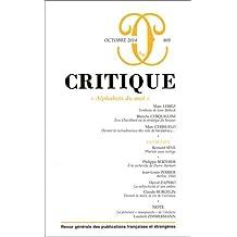 Critique, N° 809, Octobre 2014 : Alphabets du moi