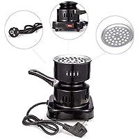 Kertou Cocina Eléctrica para Shisha CACHIMBA Carbón HORNILLO 600W Hot Plate Electric Cooking (Negro)