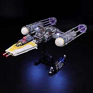 BRIKSMAX Kit di Illuminazione a LED per Lego Star Wars Y-Wing Starfighter, Compatibile con Il Modello Lego 75181… LEGO