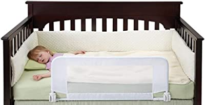 Dexbaby seguridad Sleeper Convertible cuna cama, color blanco infantil, bebé, niño