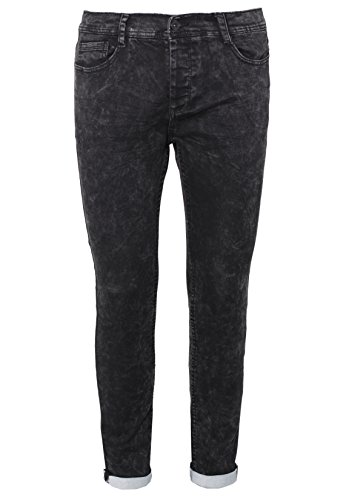 Eight2Nine Herren Sweat Jeans Skinny Fit | Elegante Röhrenjeans in Jeansoptik | Sweat-Hose Black