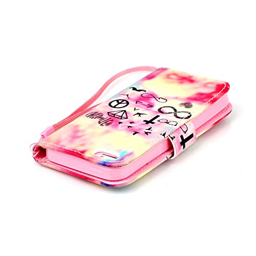Meet de Apple iPhone 5S Bookstyle Étui Housse étui coque Case Cover smart flip cuir Case à rabat pour Apple iPhone 5S Coque de protection Portefeuille - papillon de pissenlit multi-éléments