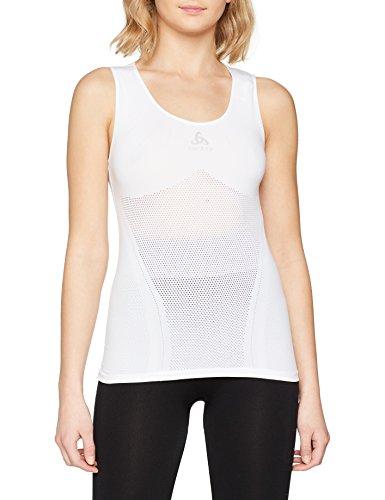 Odlo Damen SUW Crew Neck Singlet Performance Unterhemd, White, S