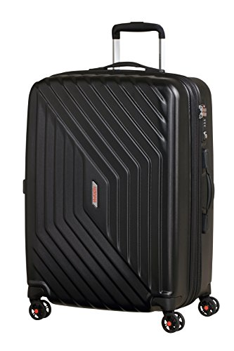 American Tourister - Air Force 1 Spinner 66/28 Espandibile 69/81L - Bagaglio a Mano 3.6 KG, Nero (Galaxy Black)