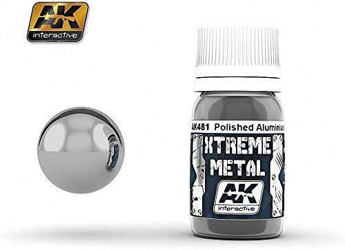 AK Interactive - Extreme Metal Paints - Polished Aluminium | D'avoir à La Fois La Qualité De Ténacité Et De Dureté