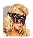 Provocative PR0035taglia unica nero sexy pizzo ricamato maschera