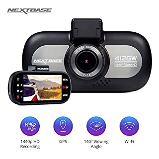 Nextbase 412GW - Full 1440p QUAD HD In-Car Dash Camera DVR - 140° Viewing Angle - WiFi and GPS - Black (B01N3SP41O) | Amazon price tracker / tracking, Amazon price history charts, Amazon price watches, Amazon price drop alerts