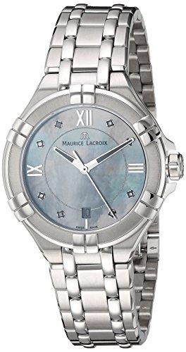Maurice Lacroix Damen Analog Quarz Uhr mit Edelstahl Armband AI1006-SS002-170-1