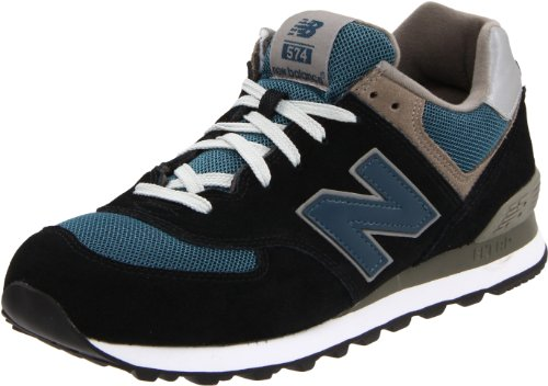 New Balance M574GS M574GS Herren Sneaker Schwarz (Navy with Teal & Grey)