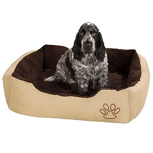 TecTake Hundebett 80 x 60 x 18cm Hundekissen Hundesofa Schlafbett braun - 3