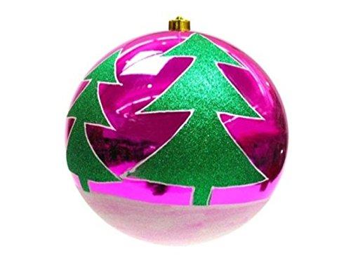 Boule Arbre de Noël 25 cm violet