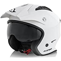 Acerbis - Casco Jet Aria - Color blanco - Talla L