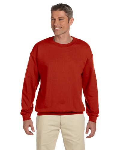 Herren 9,7 oz.Ultimate Cotton 90/10 Fleece Crew F260-DEEP RED 2XL (Cotton Crew Sweatshirt Ultimate)