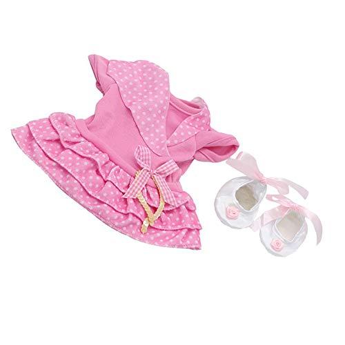 Newin Star Juego Ropa 18inch muñeca American Girl / Baby Alive Muñeca Linda del Vestido Rosado del Lunar Outfits- Regalo de la muñeca para Las niñas