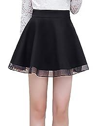 Faldas Cortas Mujer Elástica Cintura Alta Una Línea Swing Falda Plisada  Elegantes Moda Informal Basica Minifalda 1e7efb64fbfb