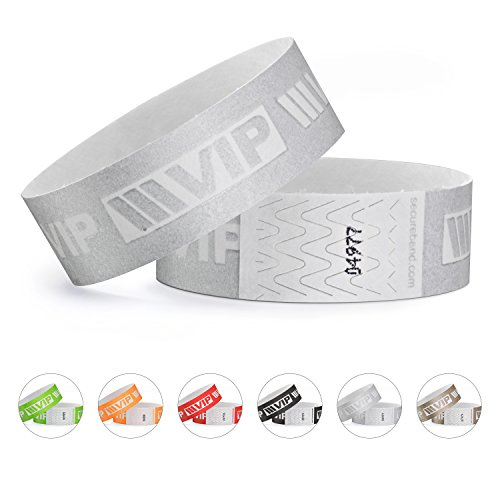 linie zwo®, 100er Pack Securebänder Tyvek® 19 mm - VIP New Design, Silber