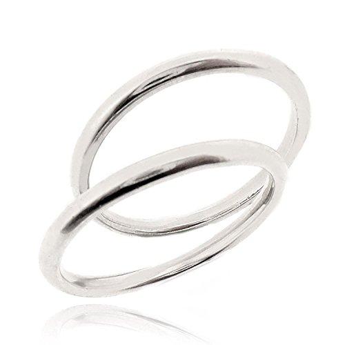 Coppia anelli fedine sottili in argento 925% rodiato fascia stretta liscia fidanzamento incisione gratis uomo donna gioielli made in italy