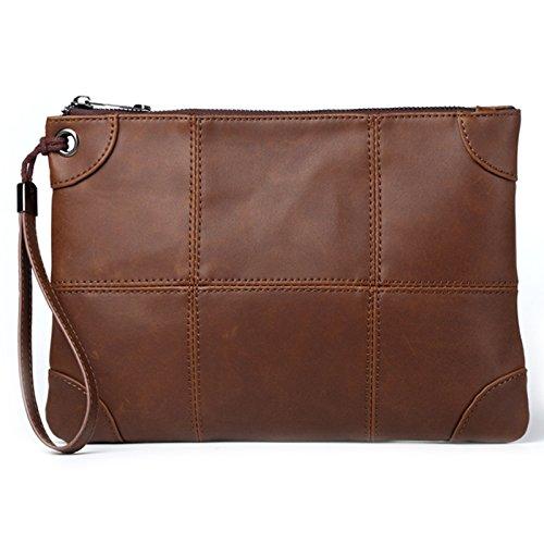 Mefly Business Männer Haben Taschen Modische Hände Umschläge Und Lange Taschen Brown