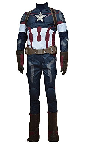 Avengers: Age of Ultron Captain America Steve Rogers Uniform Outfit Cosplay Kostuem