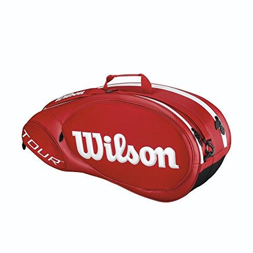Wilson Tour Molded 2.0 Borsa da Tennis per 6 racchette, Colore Rosso