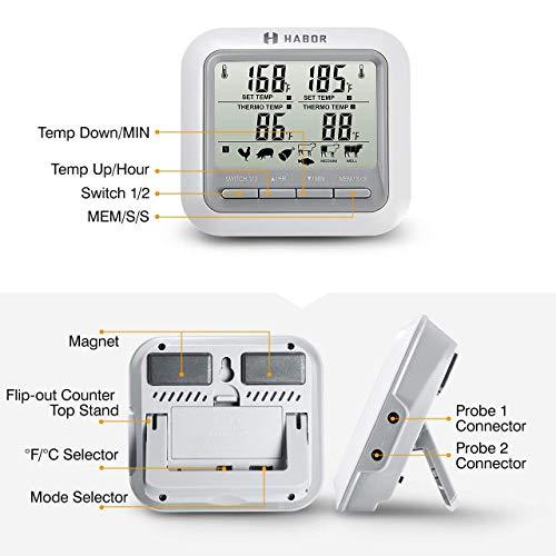 Zoom IMG-2 habor termometro cucina timer doppia
