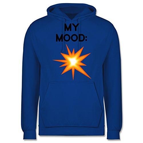 Statement Shirts - My Mood: Explosion - Männer Premium Kapuzenpullover / Hoodie Royalblau