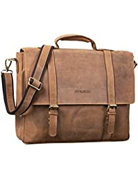 add4add828 STILORD  Calvin  Business Satchel Leather Large Portfolio for Men with 15.6  inch Laptop Compartment