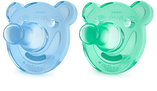 Philips Avent - SCF194/01 - Lot de 2 sucettes Soothie (0-3m), Multicolore (Blue/Green)