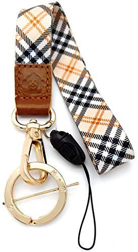 H.M Umhängeband Golden Series Schlüsselanhänger/USB-Flash-Laufwerk/Handy/Geldbörse etc. (Gitter)