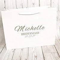 Personalised Gift Bag Bridesmaid Wedding Party Black Or White Box