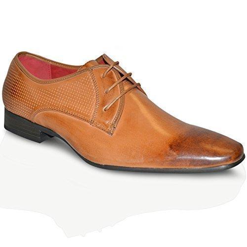 Formel Pour Hommes à lacets robe Office Doublure En Cuir Mariage Noir Bronzage Chaussures De Soirée taille 6-12 UK Brun Clair