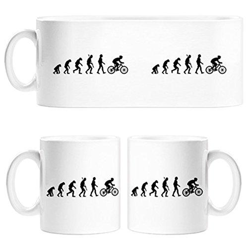 Taza Cyclist Evolution la evolución del ciclista ciclismo bicicleta bici - Cerámica