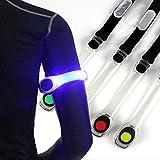 EisEyen LED Armband Reflective LED Armbänder Leuchtband Reflektor Sicherheits Licht für Laufen Joggen Hundewandern Bergsteigen Running Jogging und Outdoor Sports