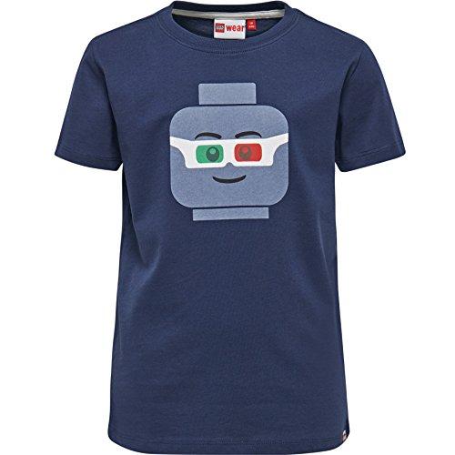 LEGO Wear Jungen T-Shirt LEGO BOY TEO 504 - 19671, Gr. 122, Blau (Dark Navy 589) Preisvergleich