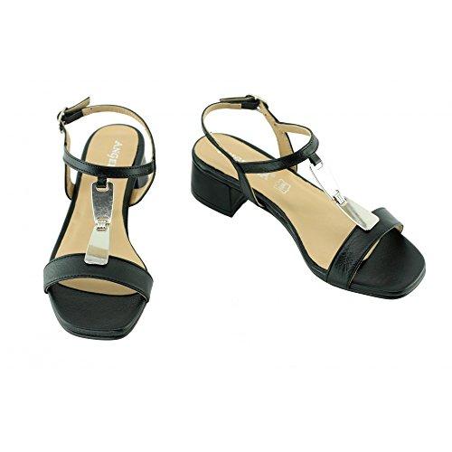 Angelina® Janinette Sandales Noir Brides & Bijoux - Petites & Grandes Pointures C-Noir