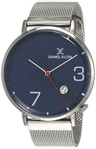 Daniel Klein Analog Blue Dial Men's Watch-DK12147-4