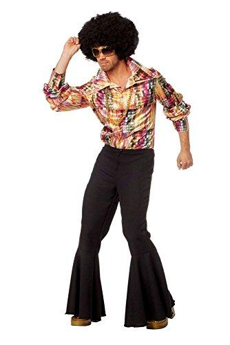 �m Shirt 70er Jahre Disco Tänzer Karneval Fasching Gr.52 (70er Disco Kostüm)