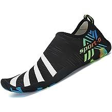 SAGUARO Zapatos de Agua Zapatillas de Playa Verano Barefoot Escarpines  Antideslizante Calzado de Surf para Hombre 7b9f7996c00
