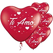 Palloncini a forma di cuore rosso TI AMO san valentino festa evento cerimonia decorazione allestimento romantico amore