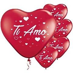 Idea Regalo - Palloncini a forma di cuore rosso TI AMO san valentino festa evento cerimonia decorazione allestimento romantico amore