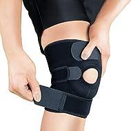 Bracoo 76640 Knee Support KS10, Open-Patella Stabiliser & Fully-Adjustable Neoprene Brace – Arthritic Pain Relief, Sports Injury Rehabilitation & Protection against Reinjury – Single Sleeve