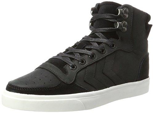 hummel Unisex-Erwachsene Stadil Winter Hohe Sneaker, Schwarz (Black), 45 EU