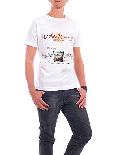 """Design T-Shirt Männer Continental Cotton """"Cocktail White Russian"""" - stylisches Shirt Essen & Trinken von Arman Akopyan Weiß"""