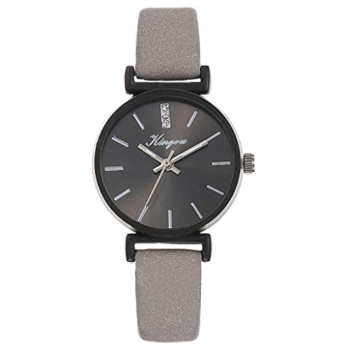 XZDCDJ Damen Uhr Armbanduhr Damenuhren Damen Ledergürtel Uhr Einfache Gürteluhr A3 Grau
