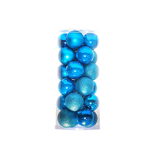 CS 4cm 6cm 8cm Modern Shiny Christmas Tree Ball Baubles Party Wedding Hanging Ornament Christmas Decoration Supplies-Light Blue 8cm ()