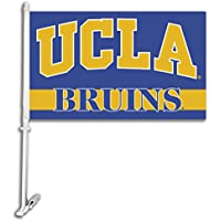 NCAA UCLA Bruins Car Flag with Free Wall Brackett
